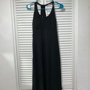 Prana maxi dress in black, size medium
